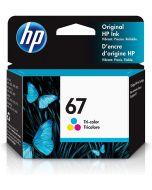 Cartouche D'encre Couleur D'origine OEM Vivera Hewlett Packard 3YM55AN (HP 67)