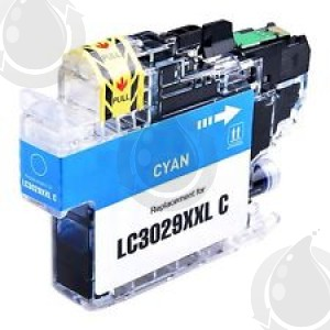 Cartouche d'encre Cyan Compatible Brother LC3029C XXL Haut Rendement (Séries LC3029)