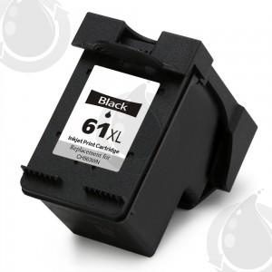 Cartouche d'encre Noir Réusinée Hewlett Packard CH563WN (HP 61XL) Haut Rendement