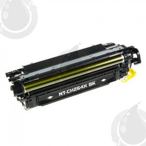Cartouche Toner Laser Noir Réusinée Hewlett Packard CE264X (HP 646X) Haut Rendement Pour Imprimante HP Laserjet Entreprise CM4540