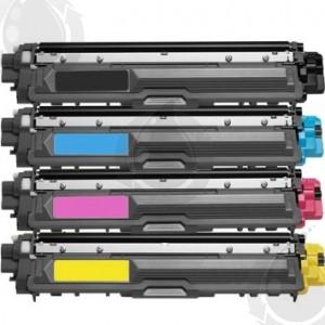 Ensemble de 4 Cartouches Laser Toner Compatible Brother TN221/225 Haut Rendement