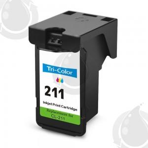 Cartouche d'encre Couleur Réusinée Canon CL211 de petite capacité