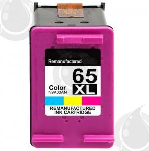 Cartouche d'encre Couleur Réusinée Hewlett Packard N9K03AN (HP 65XL) Haut Rendement