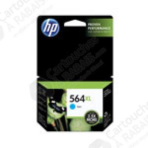 Cartouche d'encre Cyan d'origine OEM Vivera Hewlett Packard CB323WN (HP 564XL) Haut Rendement