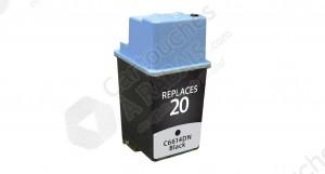 Cartouche d'encre Noir Réusinée Hewlett Packard C6614DN / C6614D (HP 20)