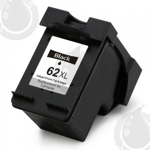 Cartouche d'encre Noir Réusinée HP 62XL, C2P05AN