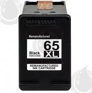 Cartouche d'encre Noir Réusinée Hewlett Packard N9K04AN (HP 65XL) Haut Rendement
