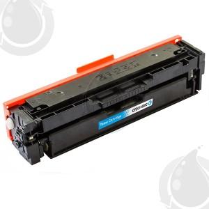 Cartouche Toner Laser Cyan Compatible Hewlett Packard CF401X (HP 201X) Haut Rendement