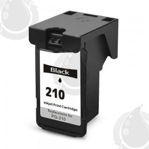 Cartouche d'encre Noir Réusinée Canon PG210 de petite capacité