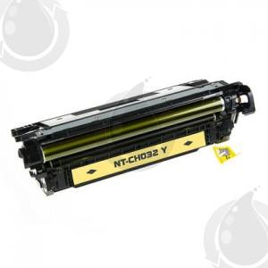 Cartouche Toner Laser Jaune Réusinée Hewlett Packard CF032A (HP 646A) Haut Rendement Pour Imprimante HP Laserjet Entreprise CM4540