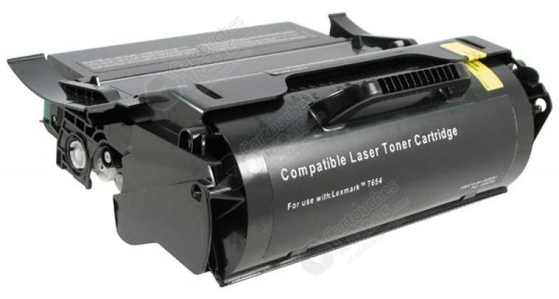cartouche toner laser noir r usin e lexmark x654x11a x654x21a extra haut rendement. Black Bedroom Furniture Sets. Home Design Ideas